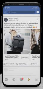 iPhone X Violet Hamden FB carousel tas
