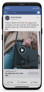 iPhone X Violet Hamden FB video satchel